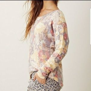 Free People | Floral Sweater